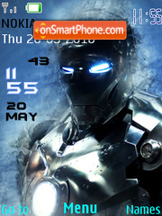 Iron Man 2 Clock theme screenshot