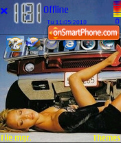 Jessica Alba Hummer 01 theme screenshot
