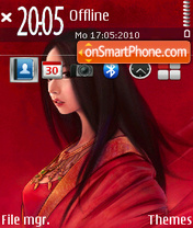 Lady in Red 01 theme screenshot