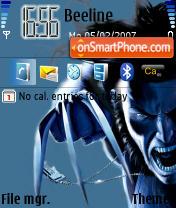 Скриншот темы Marvel Wolverine