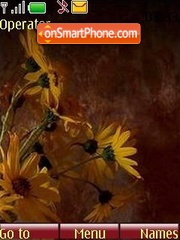 Скриншот темы Yellow flowers