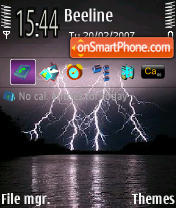 Lightning theme screenshot
