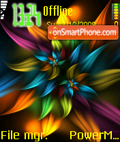 Abstract Petals theme screenshot