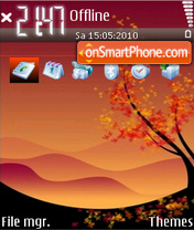 Autumn 09 theme screenshot