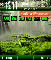 Forest Rain theme screenshot