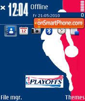 Nba playoffs theme screenshot