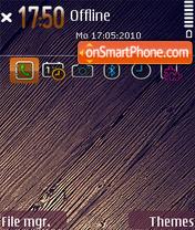 The wood theme screenshot
