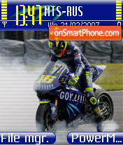 Скриншот темы Valentino Rossi