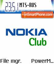 Nokia Club theme screenshot