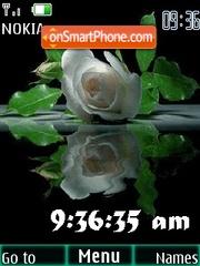 Animated rose clock es el tema de pantalla