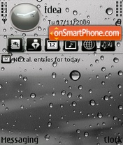 Water Droplets tema screenshot