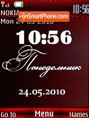 Calendar Clock theme screenshot