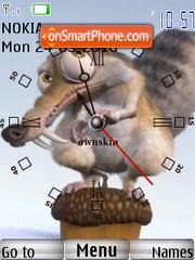 Ice Age Clock theme screenshot