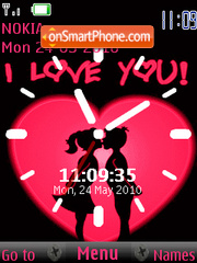 Love Clock theme screenshot