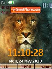 Narnia lion Clock theme screenshot