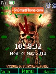 Pirates Clock theme screenshot