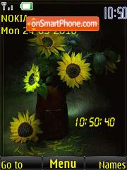 Sunflower Clock tema screenshot