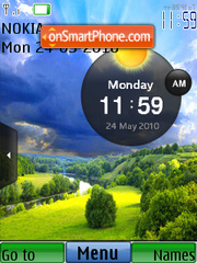 Natural Clock theme screenshot
