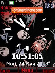 Skull 2 Clock theme screenshot