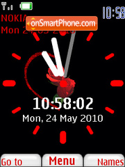 Rose Love Clock theme screenshot