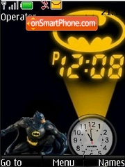 Batman clock theme screenshot