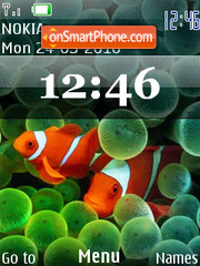 iphone flash clock theme screenshot