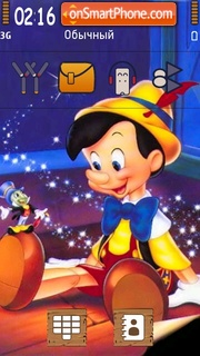 Скриншот темы Pinocchio