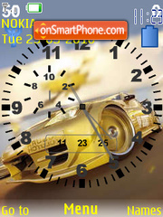 Lamborghini SWF Clock theme screenshot