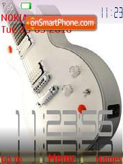 Gibson Guitars Clock es el tema de pantalla