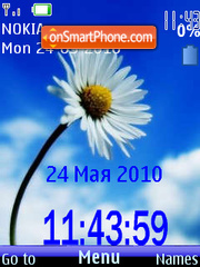 Camomile SWF Clock tema screenshot