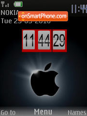 Iphone Flash Clock 01 es el tema de pantalla