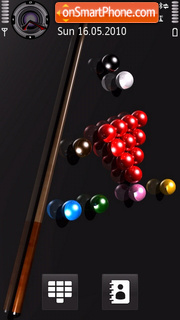 Snooker theme screenshot
