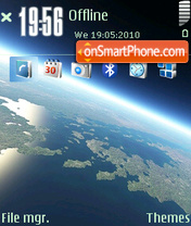 Space Earth theme screenshot