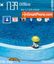 Sea ovi theme screenshot