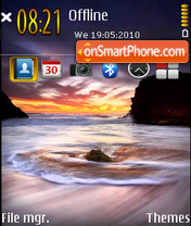 Скриншот темы Sunset Dream 01