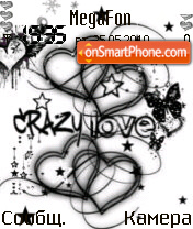 Crazy love theme screenshot