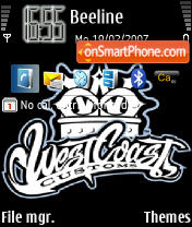 West Coast Customs 1 theme screenshot