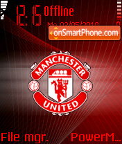 Manchester United 2018 theme screenshot