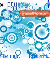 Blue Circles theme screenshot