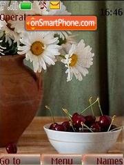 Camomiles and cherries theme screenshot