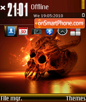 Fire Skull 03 theme screenshot