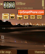 Night Beach 01 theme screenshot