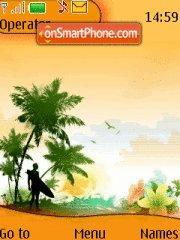 Orange Beach Icons theme screenshot