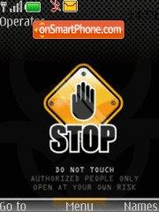 Dont Touch with Tone tema screenshot