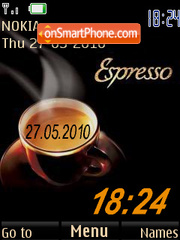 Espresso Clock theme screenshot