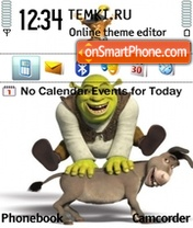 Shrek and Donkey theme screenshot