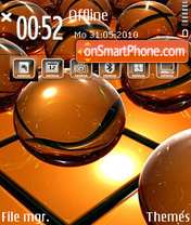 Orange ball theme screenshot