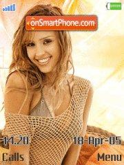 Jessica Alba tema screenshot