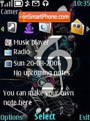 Musik key theme screenshot