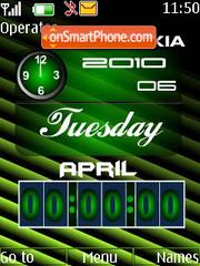 Dual clock with date theme screenshot